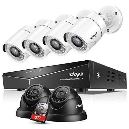SANNCE 8CH 1080N Security Camera System CCTV DVR with 1TB Ha