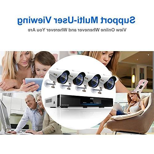 ELEC 1080P 8CH Security System 1.3MP Weatherproof Security Cameras Surveillance, LED Night Disk Drive