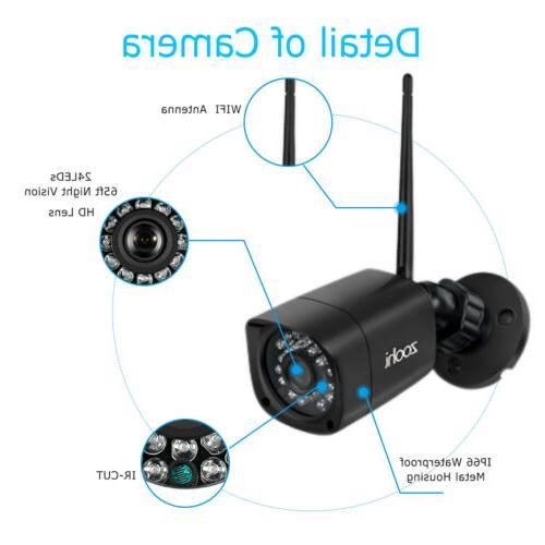 Zoohi Outdoor Camera System Wireless CCTV 1080P 1/2TB
