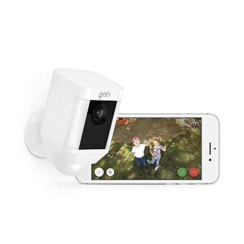 Ring Cam HD Camera Built Two-Way a White, Works with