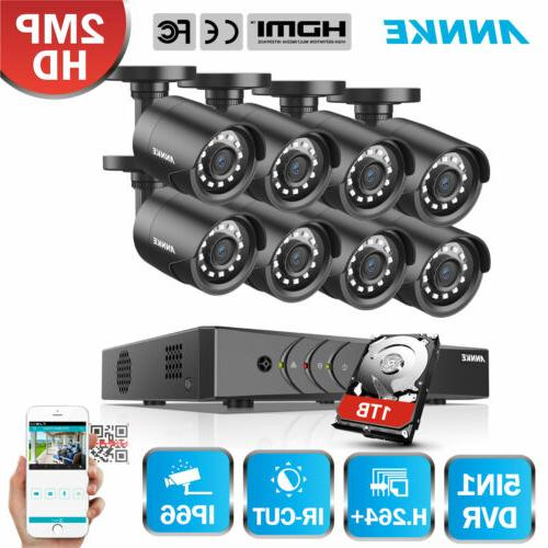 "ANNKE Wireless 4CH 7"" LCD Monitor DVR Home Video 4 Cameras C"