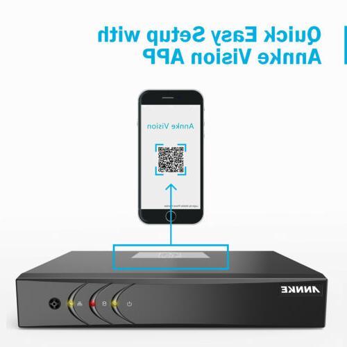 ANNKE 8CH 1080P H.264+ Security Camera