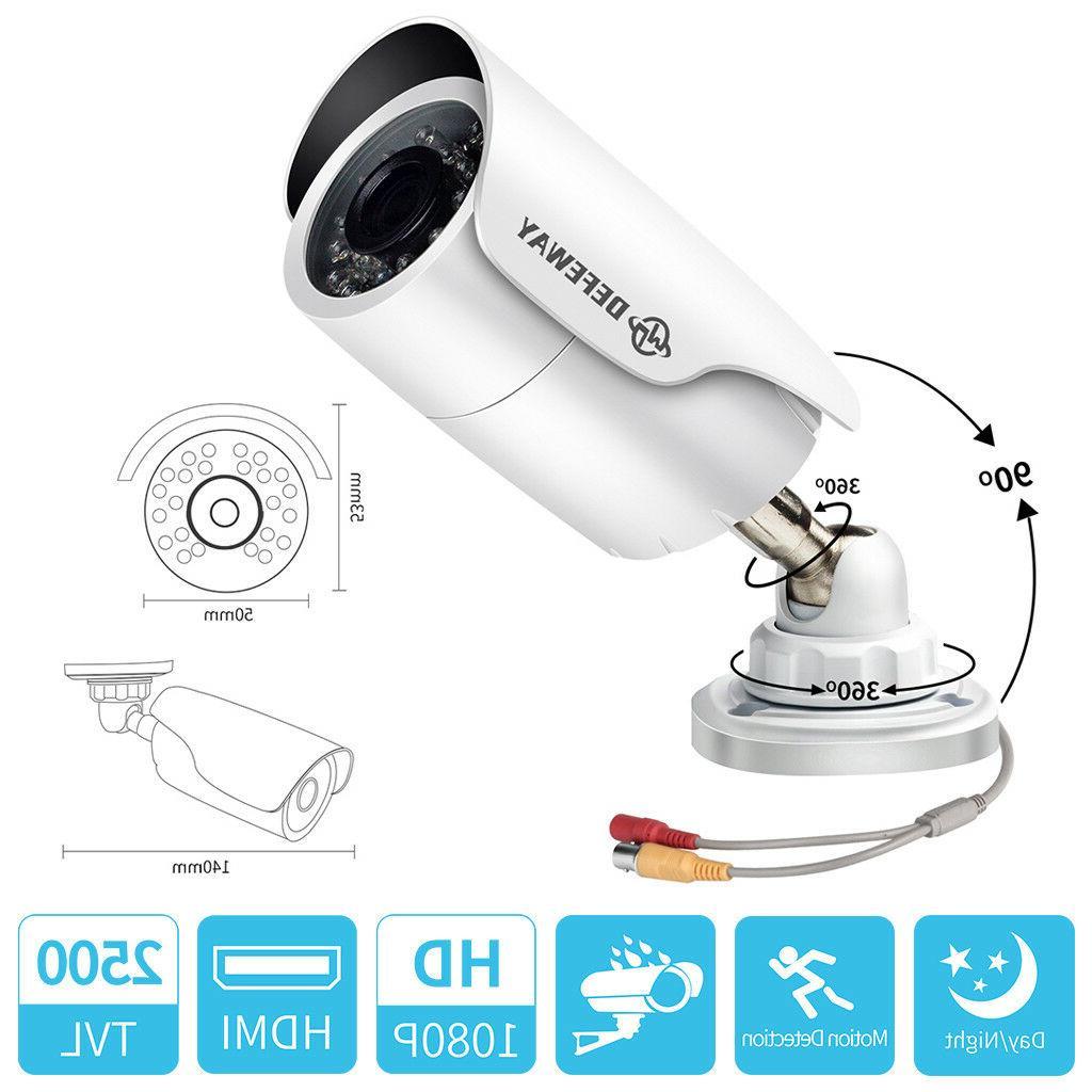DEFEWAY 1080P AHD IR Night Vison Outdoor Bullet Camera for s