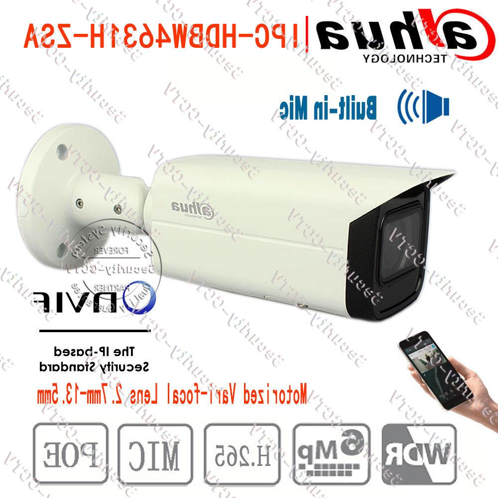 Dahua 6MP Bullet Security Camera Built-in Mic POE IR 60m Mot