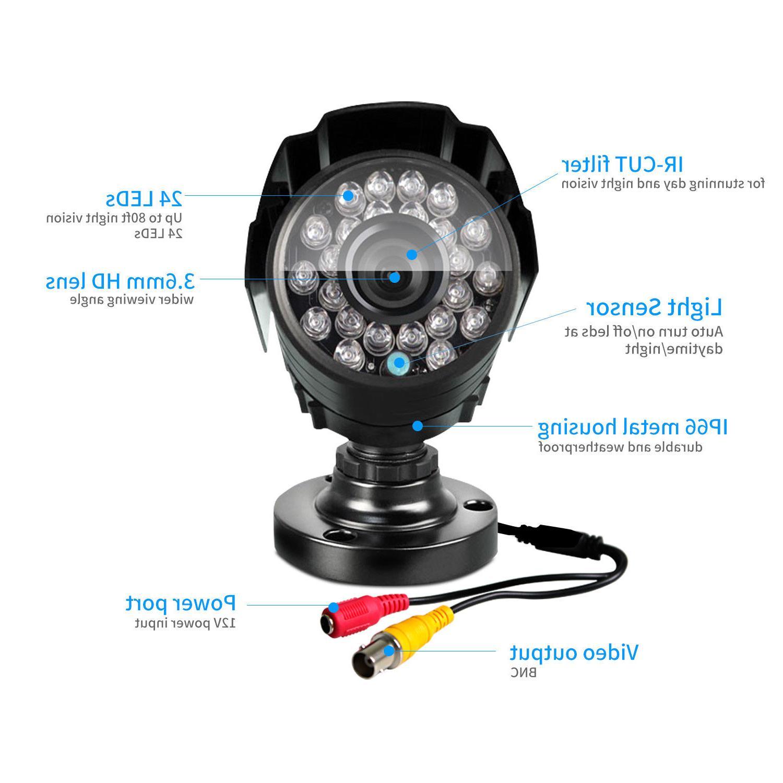 Defeway HD 1200TVL 24 IR LED Day Night Outdoor CCTV Security