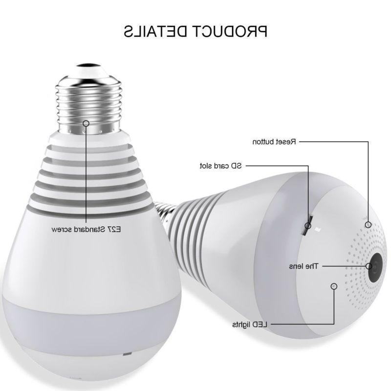 HD Panoramic Hidden Camera Light Home Lamp