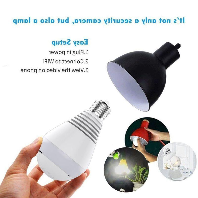 HD Panoramic Hidden IP Light Home Lamp Cam