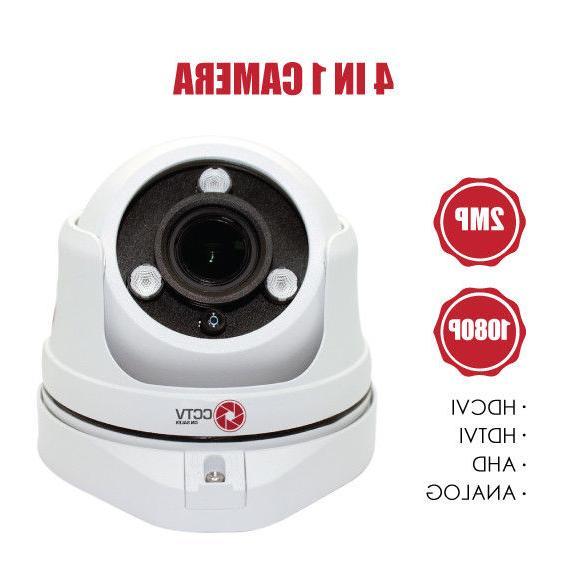 HD 1080P Dome Security Camera 2.4MP Sony CMOS, Varifocal 2.8