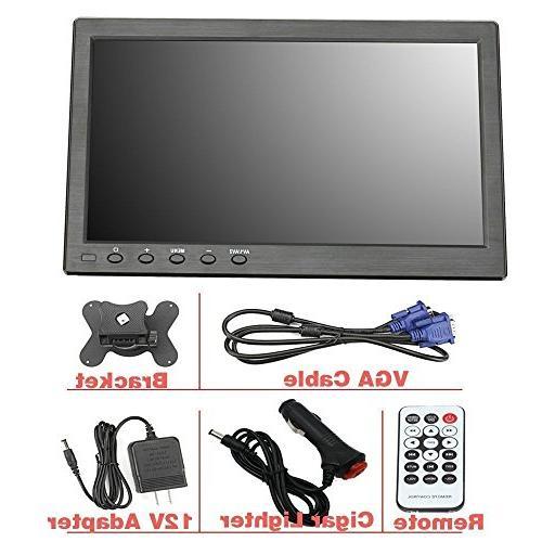 Loncevon-10.1 inch Portable Laptop Monitor with HDMI VGA Raspberry pi Monitor ; Video HDMI HD 1024x600 with Dual USB