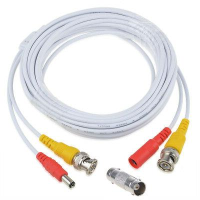 25ft Power Video Security Camera Cable BNC Extension Wire Cord for All CCTV DVR