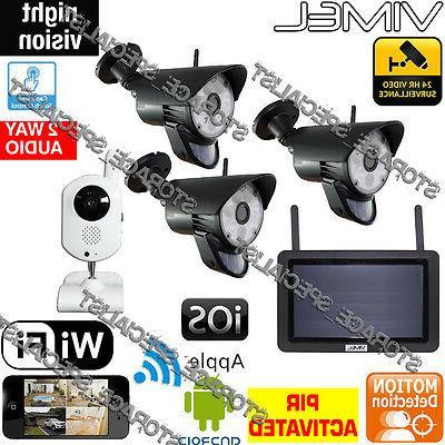 Wireless Security Home Alarm System Cameras Video Surveillan