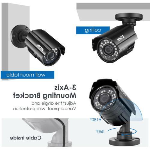 ZOSI 1080p Outdoor Bullet CCTV Home Surveillance Day