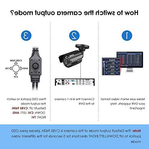 ZOSI HD TVI/CVI/AHD/CVBS Security 3.6mm Lens IR-LEDs CCTV Camera Day/Night Camera 960H/ 720P 1080N / Analog Systems