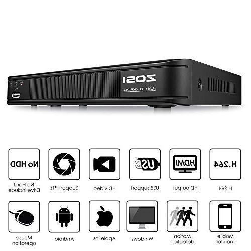 ZOSI Security HD-TVI 1.0MP Indoor/Outdoor Weatherproof Cameras