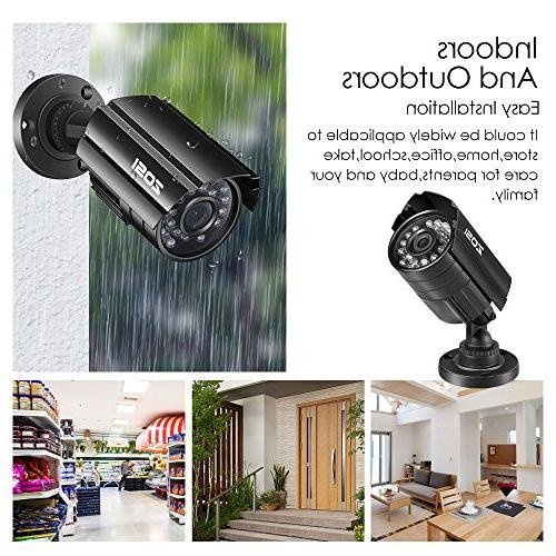 ZOSI HD Hybrid CCTV Camera IR-LEDs Home Day/Night Camera Aluminum For and analog