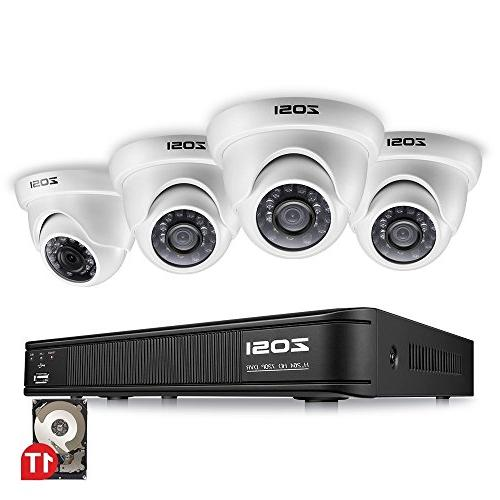 ZOSI 8-Channel Security Camera Video Recorder 1.0MP Day Weahterproof