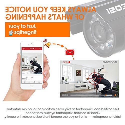 ZOSI HD-TVI 1080N Video Surveillance 1280TVL Indoor Outdoor Weatherproof Night