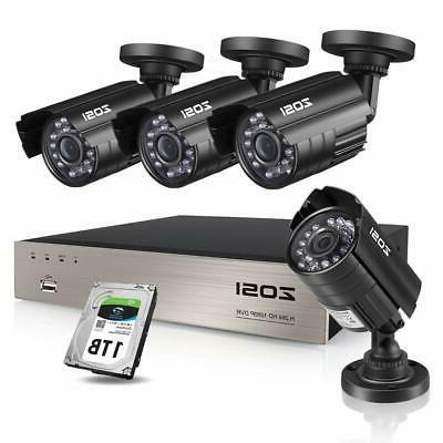 a5e9b41f7 ZOSI 8CH Security Camera System HD-TVI Full 1080P Video DVR