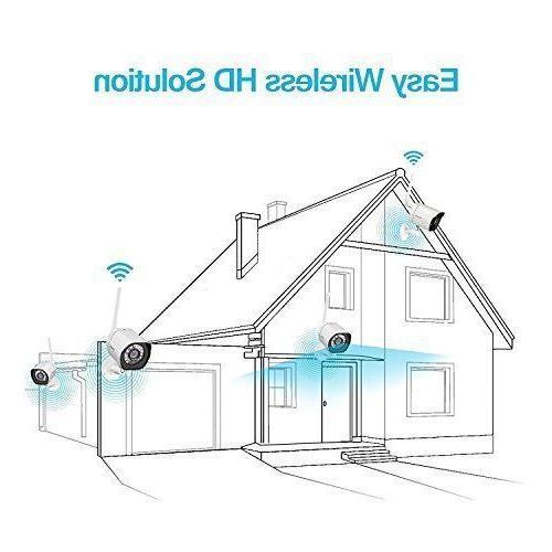 Zmodo Wireless Security System Smart HD WiFi IP...