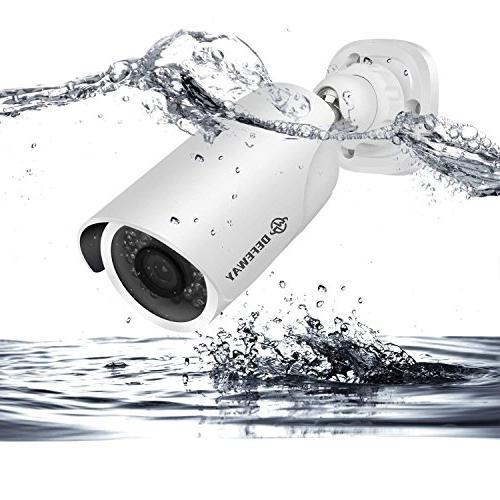 DEFEWAY 1080P Video Surveillance Camera 2000 Weatherproof Home CCTV Cables