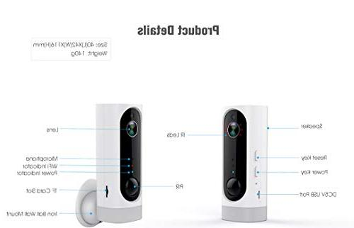 Wireless and Security Camera with Vision & PIR Alarm for Monitor