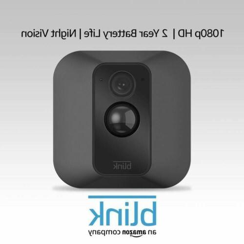 blink xt battery powered home security camera