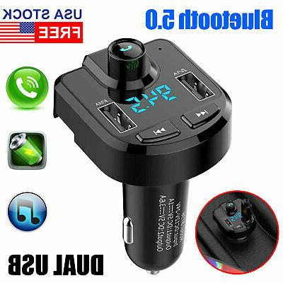 bluetooth wireless car aux stereo audio receiver