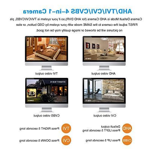 EWETON 1080P Bullet Security Camera, HD TVI/CVI/AHD/960H Waterproof Indoor/Outdoor Surveillance Camera LED 115ft Night 3.6mm UTC OSD