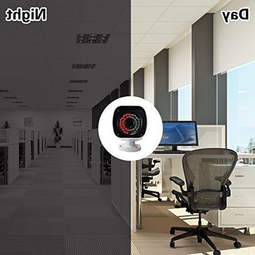 EWETON Security Camera, TVI/CVI/AHD/960H Surveillance Camera 1920x1080, LED 115ft 3.6mm