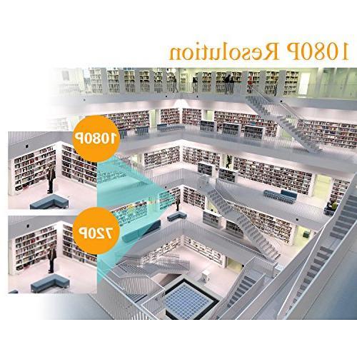 EWETON Camera, HD Hybrid TVI/CVI/AHD/960H Camera 1920x1080, LED 115ft 3.6mm Lens UTC