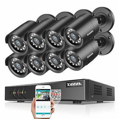 ANNKE Lite 8CH DVR Outdoor CCTV Security Camera 2TB