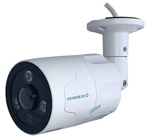 Microseven 1080P HD POE Outdoor Camera, Alexa, Two-Way Audio