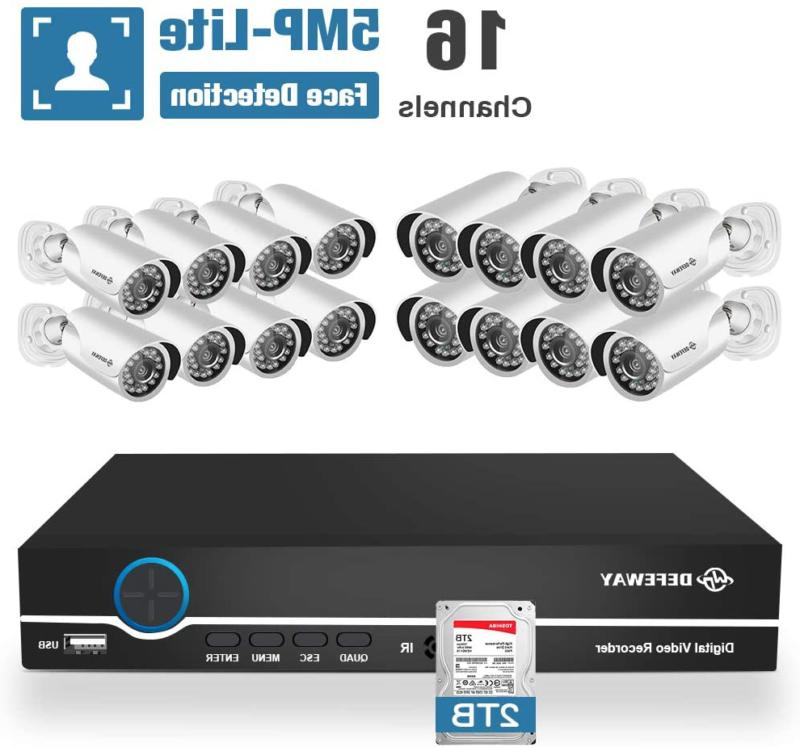Defeway 16 Channel Home Security Camera System, 5Mp Lite 5-I
