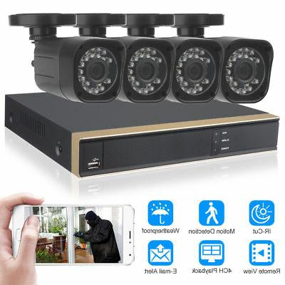 DID 1080N Home CCTV System 720P IP65 + 4 Outdoor