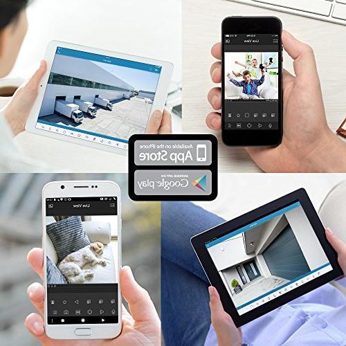Amcrest UltraHD 4K Security POE 3840x2160, 98ft Lens, IP67 Weatherproof, IK10 Vandal MicroSD Recording, White