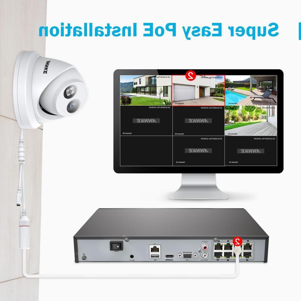<font><b>ANNKE</b></font> 1PCS 8MP POE <font><b>Camera</b></font> Outdoor Indoor Weatherproof Network EXIR Vision Email Kit