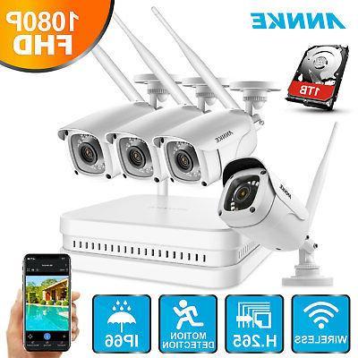 ANNKE Full HD 1080P Wireless H.265 8CH NVR In/Outdoor Securi