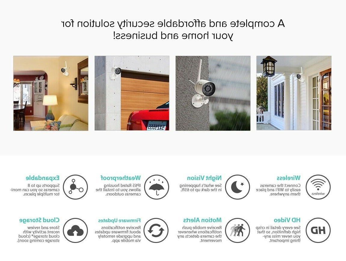 Funlux Wireless Security System Smart HD Indoor Outdoor 4 PACK