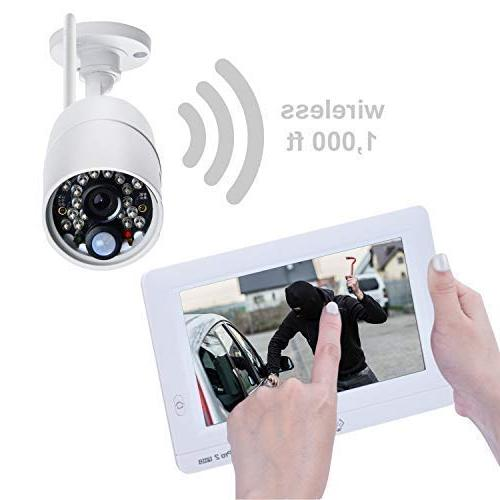 Sequro GuardPro2 Security System Range Weatherproof Kit with Touchscreen Monitor, Home, Warehouse,