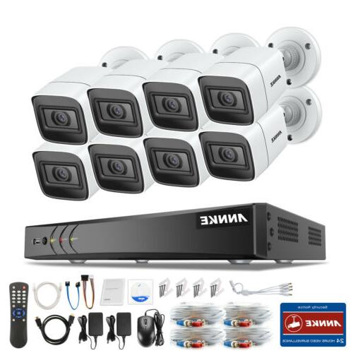 ANNKE 8CH 4K Security Camera System CCTV Night Onvif