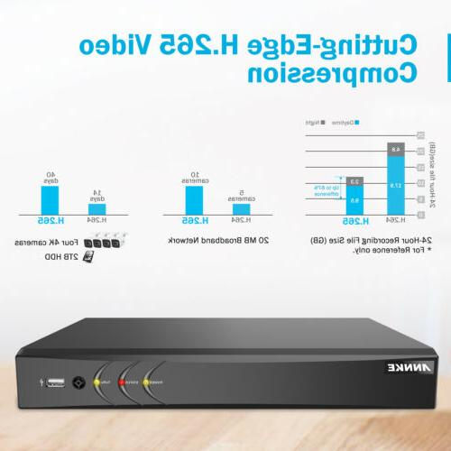 ANNKE Ultra HD 8MP 8CH DVR 4K Camera CCTV IR Night