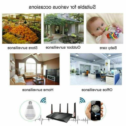 HD 1080P Hidden Wifi Light Bulb Security Lamp Cam