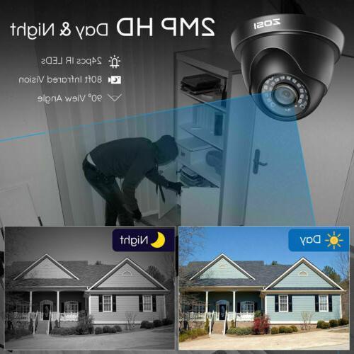 ZOSI HD 8CH 5MP Lite DVR IR Security