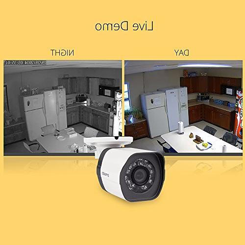 Zmodo Security System NVR & 720p IP Cameras No