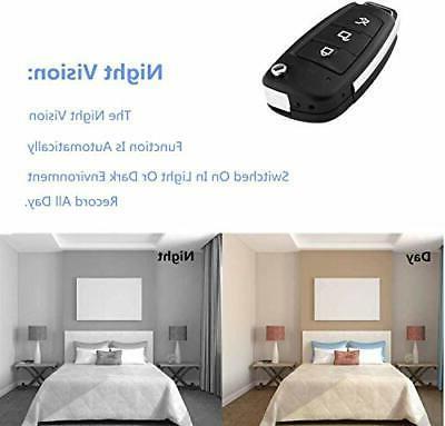 Hidden Portable Mini Cameras - Full HD Car Key Chain Motion an...