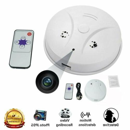 Mini Hidden Camera Smoke Detector Motion Detection HD Video