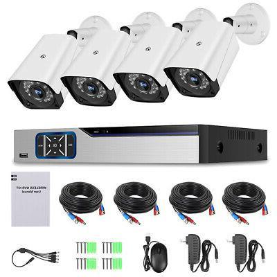 KKMOON 8CH 5MP Lite DVR 1080P Security Camera CCTV System Ou