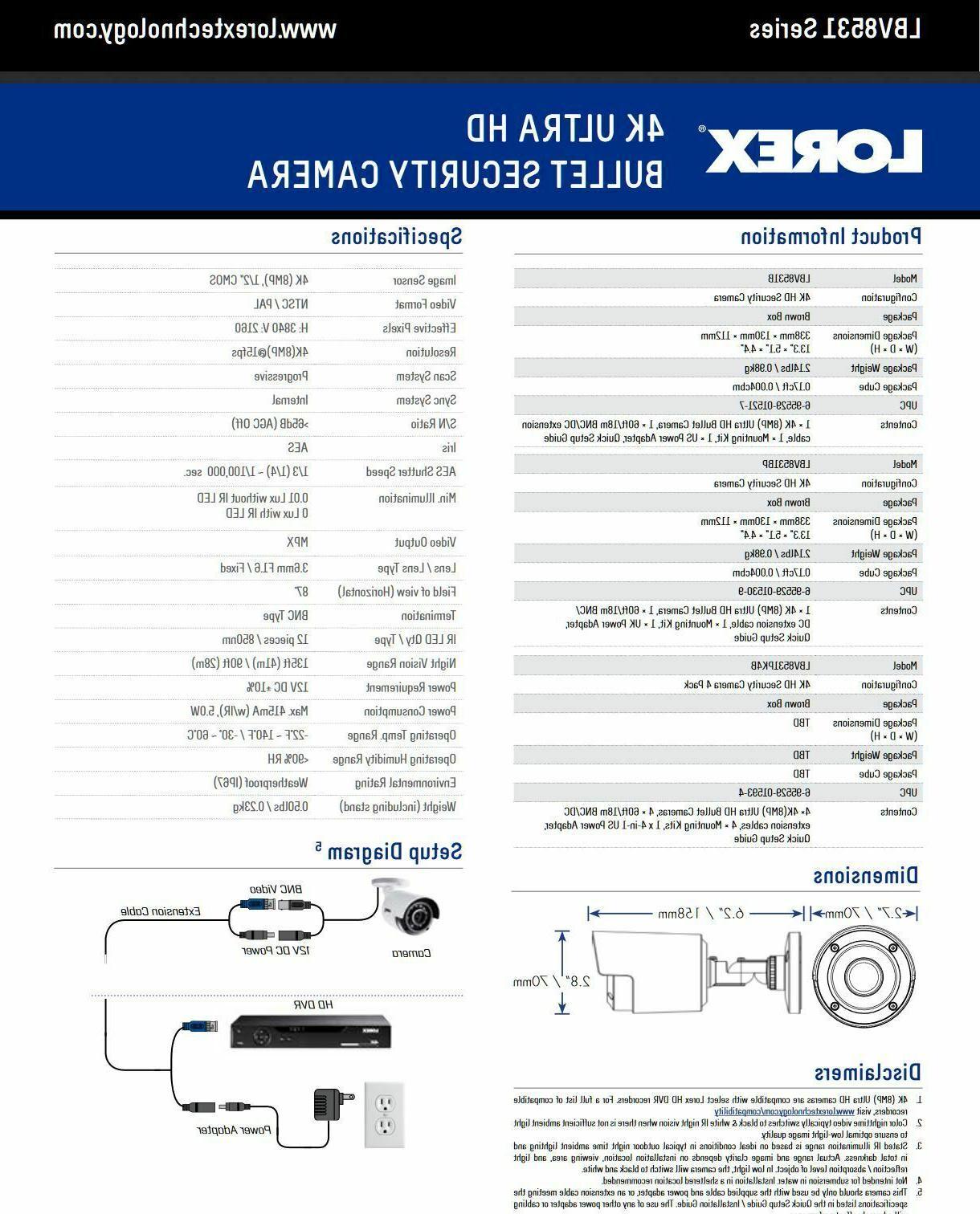 Lorex LBV8531 Ultra MPX Security