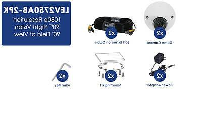 LOREX LEV2750AB-2PK Audio-enabled 1080p dome security camera 2-pack