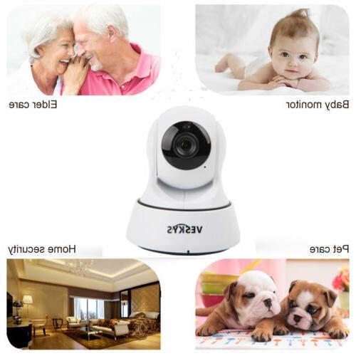 Wireless 1080P HD Pan/Tilt IR Network Security CCTV Camera W